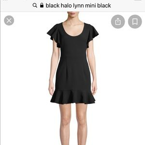Black Halo Lynn Mini Dress-Black